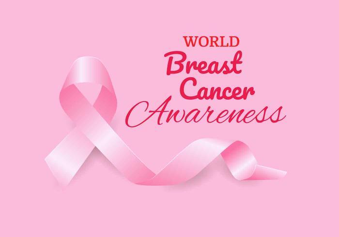 Vettore del nastro di consapevolezza del cancro al seno