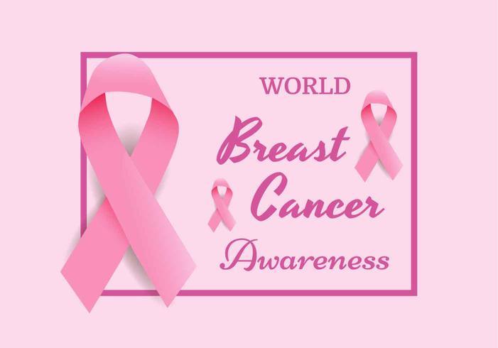 Vecteur de ruban de sensibilisation au cancer du sein