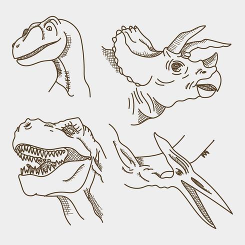 Realistic Dinosaur Faces