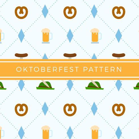 Flat Oktoberfest Elemento Padrão Vector