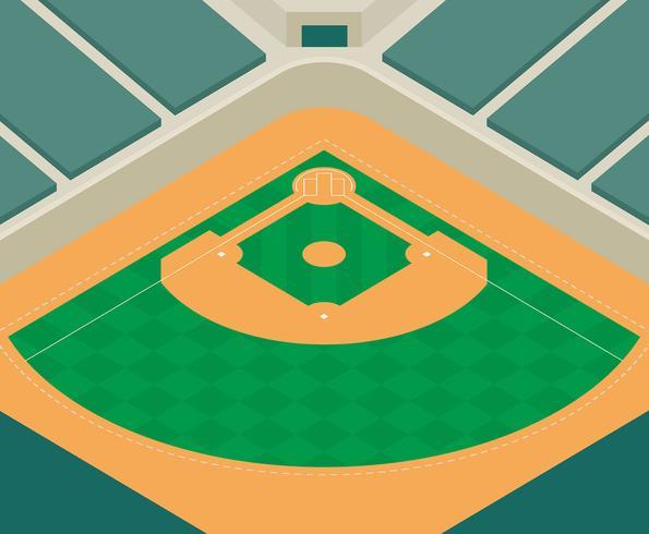 Ilustração de parque de beisebol