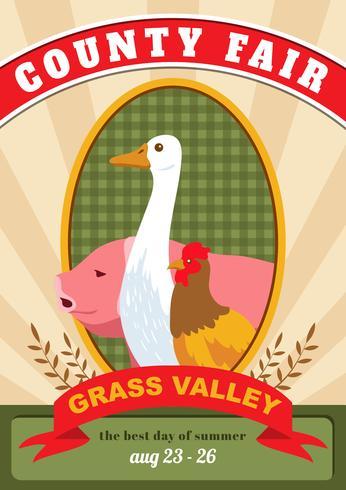 Cartão da feira de condado