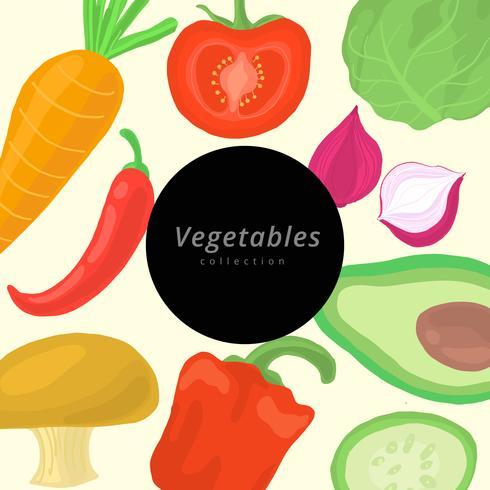 Coleção de vetores de legumes em aquarela