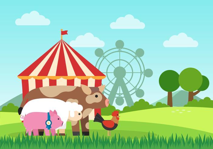 Ilustração da feira de condado