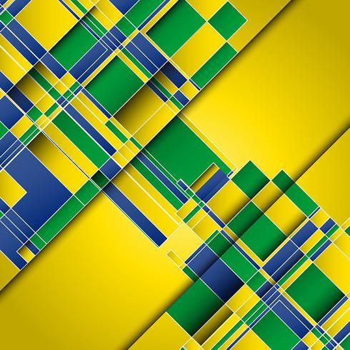 Fundo abstrato usando as cores da bandeira do Brasil