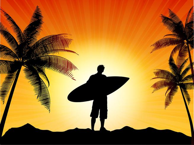 Surfersilhouet