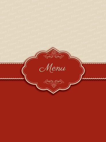 Design de menu decorativo