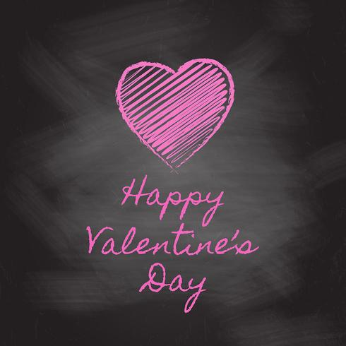 Valentine's Day chalkboard background