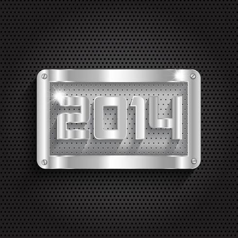 Fond métallique du nouvel an