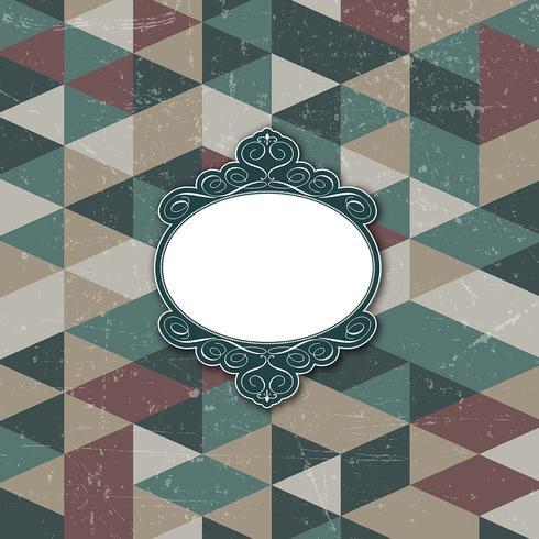 Decoratief frame op grungeachtergrond