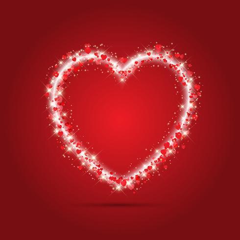 Sparkle heart background