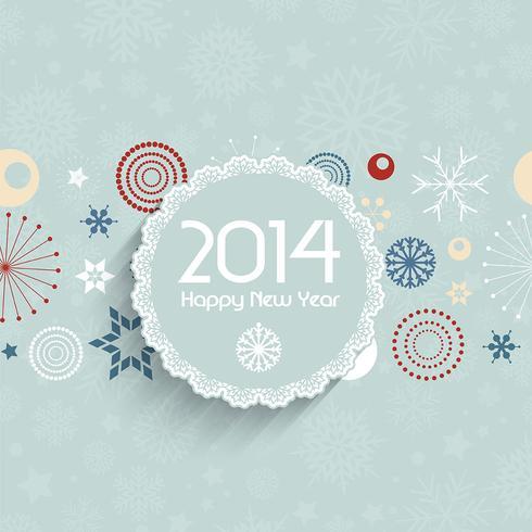 Retro New Year background