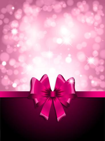 Valentines Day gift ribbon background