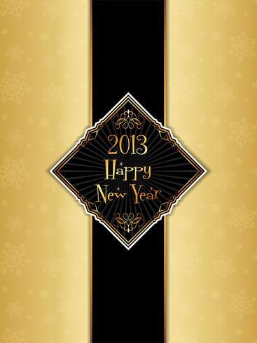Happy new year menu design