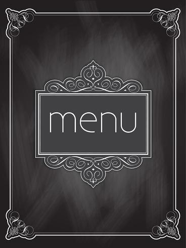 Chalkboard menu design