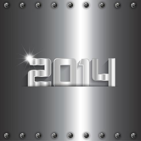Fond métallique nouvel an