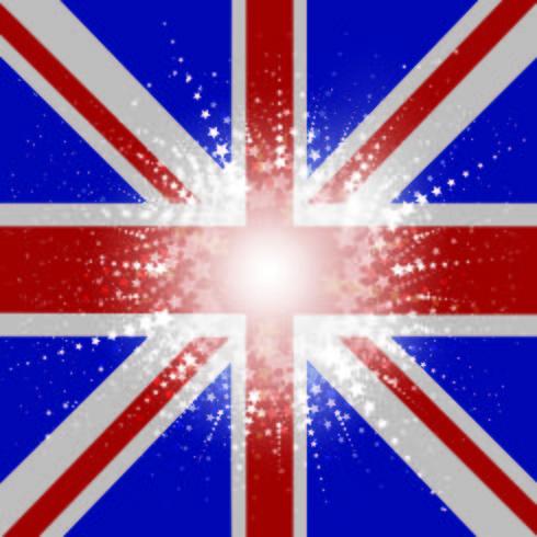 Sternenklarer Union Jack Flag-Hintergrund