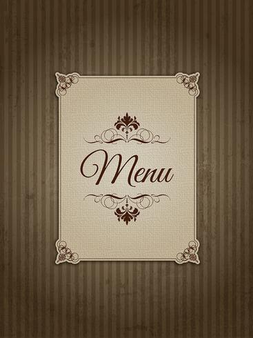 Design do menu vintage 1303