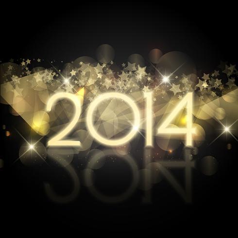 Starry New Year bakgrund