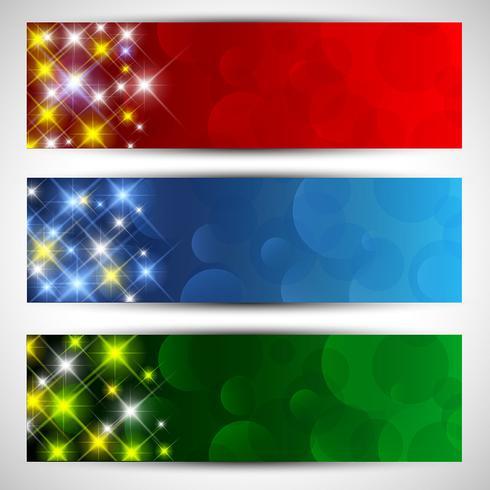 Banners estrellados de navidad