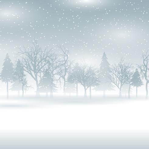 Snöiga vinterlandskap
