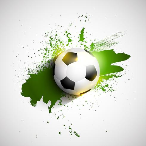 Grunge fotboll / fotbollsboll bakgrund