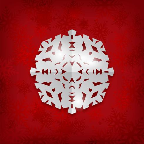 Christmas paper snowflake