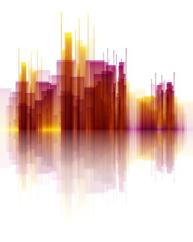 Abstract skyscraper scene