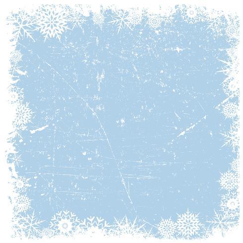 Fondo de Navidad de copo de nieve de Grunge