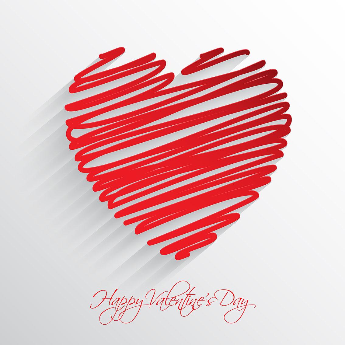Scribble heart background - Download Free Vectors, Clipart ...