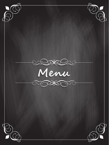 Diseño de menú de pizarra