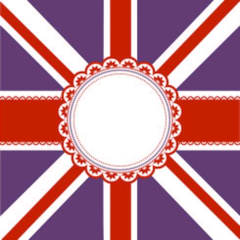 Drapeau sur fond drapeau Union Jack