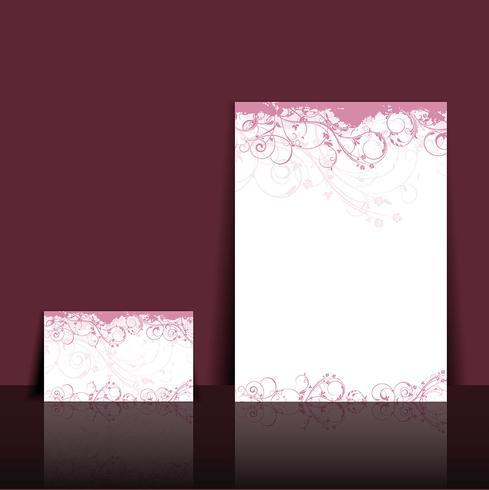 Floral briefhoofd en visitekaartje ontwerp vector