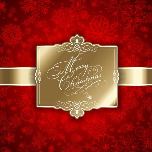 Kerstmis label achtergrond