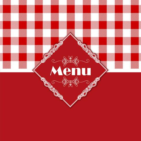 Gingham pattern menu design