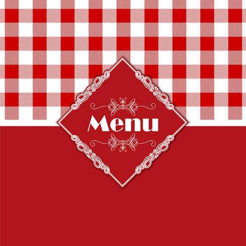 Diseño de menú de patrón de guinga