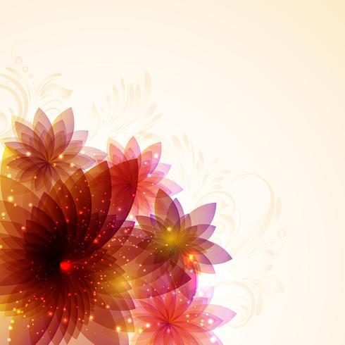 Desenho floral abstrato