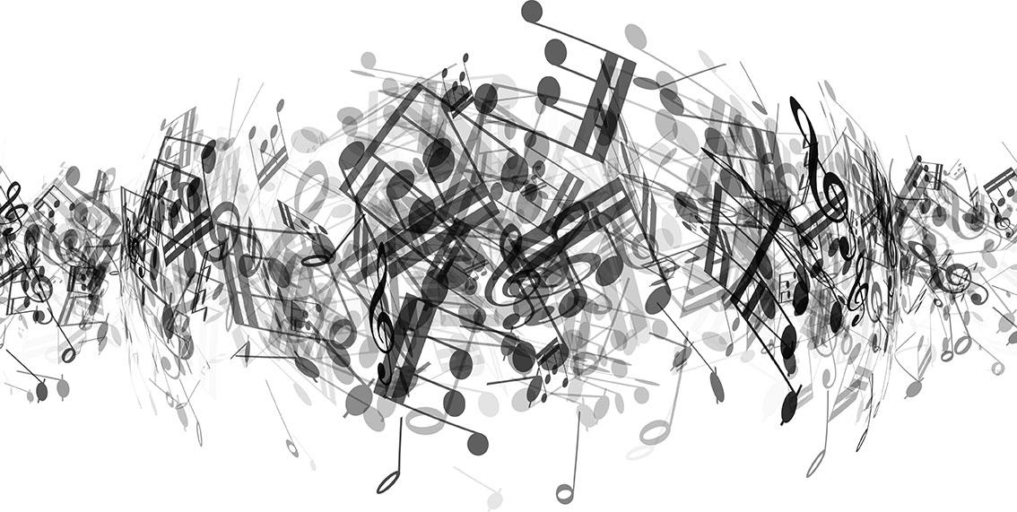 Abstract Music Notes Art: Abstract Music Notes Background