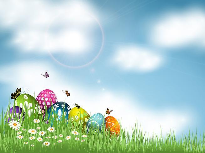 Sfondo di uovo di Pasqua