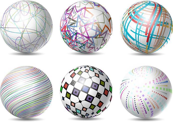 abstract spheres 234158 vector art at vecteezy  vecteezy