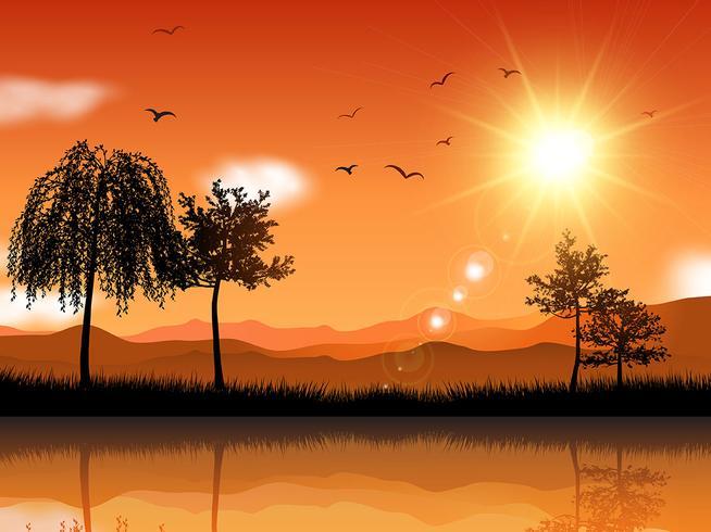 Sonnige Landschaft