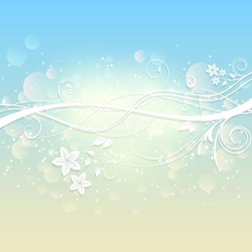 Blommig sommarbakgrund