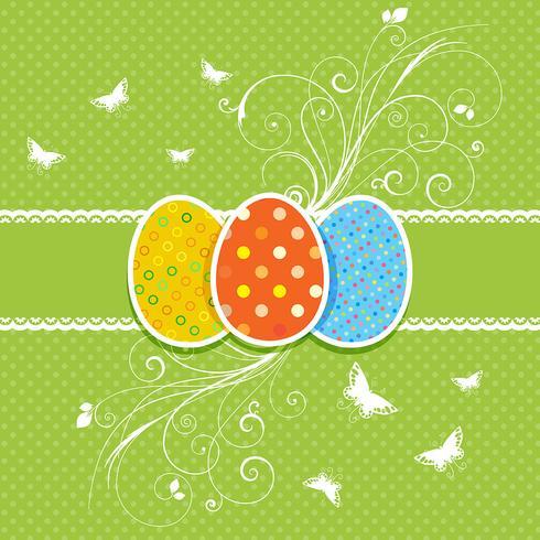 Fondo floral del huevo de Pascua