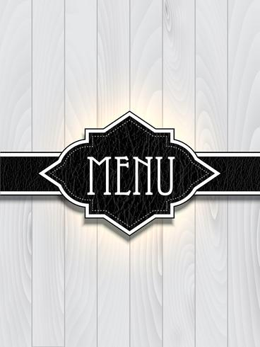 Leather and wood menu design