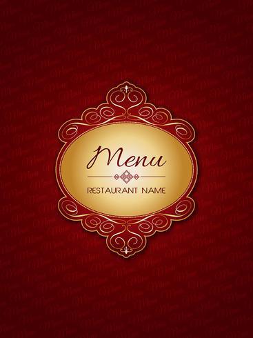 Design elegante menu