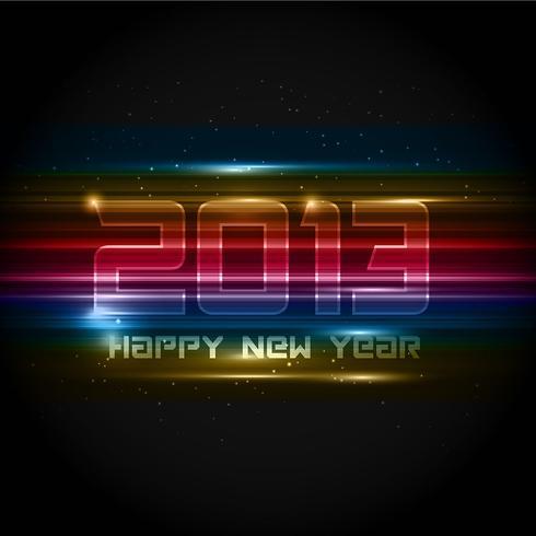 Fundo futurista de ano novo