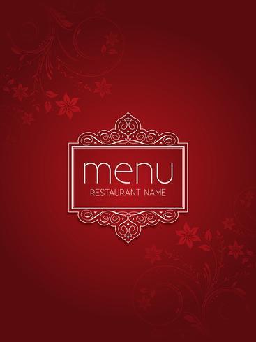 Design elegante menu floral