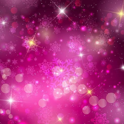 Fond de Noël rose vecteur