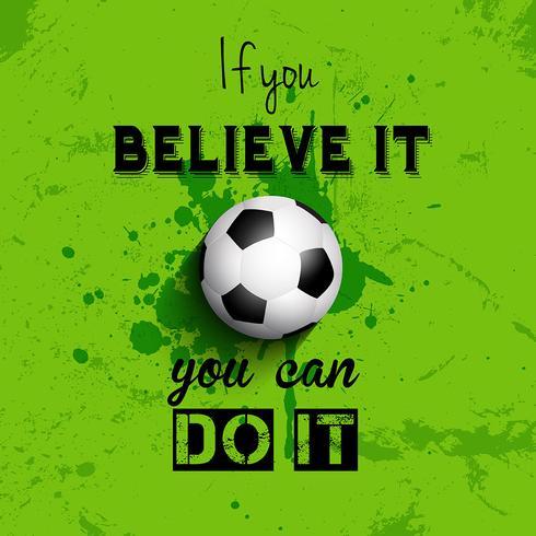 Fundo de futebol ou futebol de citação inspiradora