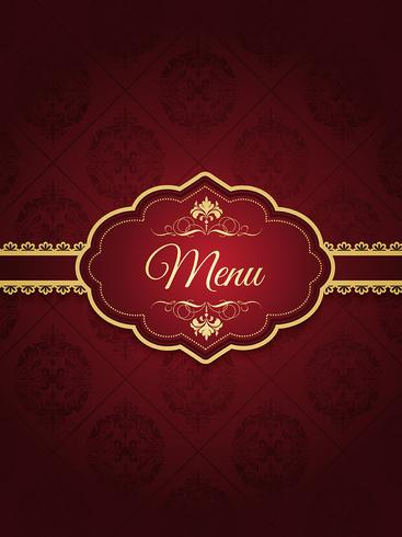 Design de menu élégant